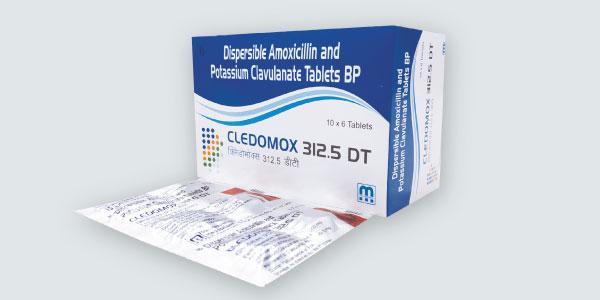 cledomox-312-dt-amoxicillin-250mg-potassium-clavulanate-62mg-tablets